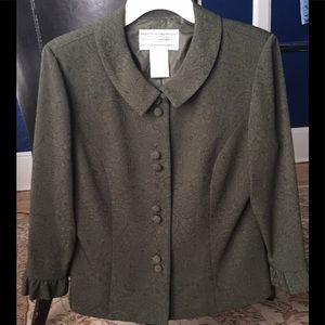 Jessica Howard green suit jacket blazer. 3/4 cuff